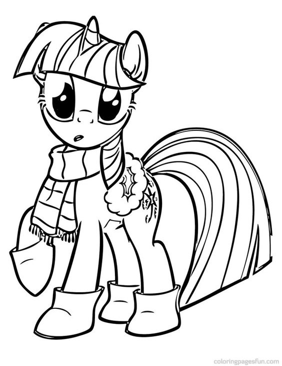 My Little Pony Apple Jack At Winter Coloring Page