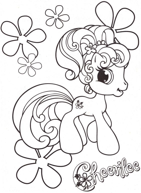 My Little Pony Princess Cherilee Coloring Page