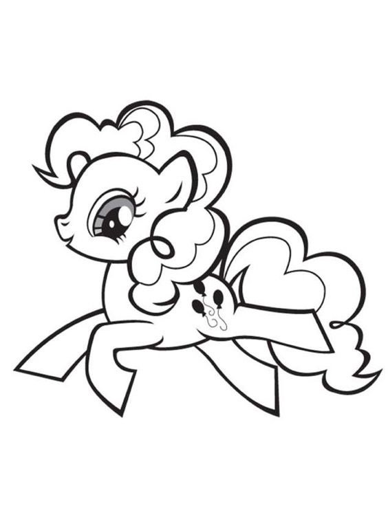 Hard My Little Pony Coloring Pages : My little pony happy pinkie pie coloring page