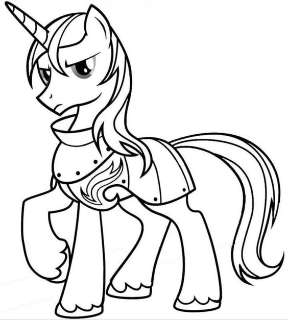 My Little Pony Armor Posing Princess Celestia With Necklace Coloring Page