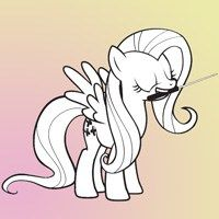 My Little Pony Nice Fluttershy Coloring Page