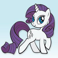 My Little Pony Beautiful Rarity Coloring Page