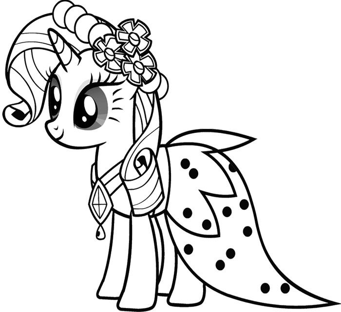 My Little Pony Princess Serrtie Belle Coloring Coloring Page