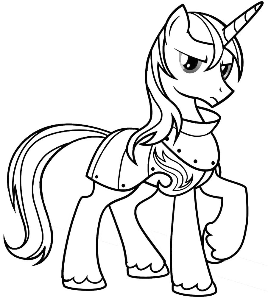 Coloring pages of princess cadence - My Little Pony Shining Armor Coloring