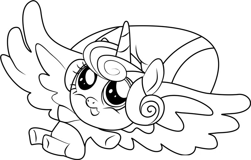 My Little Pony Flurry Heart Coloring