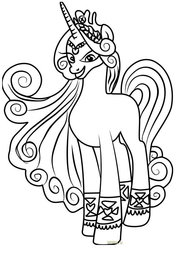 My Little Pony Princess Amore Coloring Coloring Page
