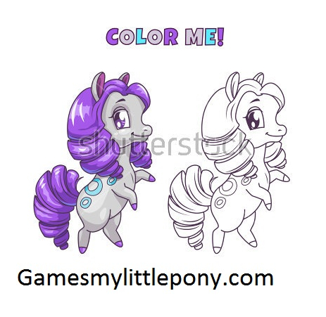 My Little Pony Non Pony Character Coloring Coloring Page