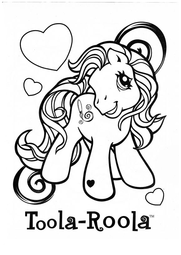 My Little Pony Toola Roola Coloring Page