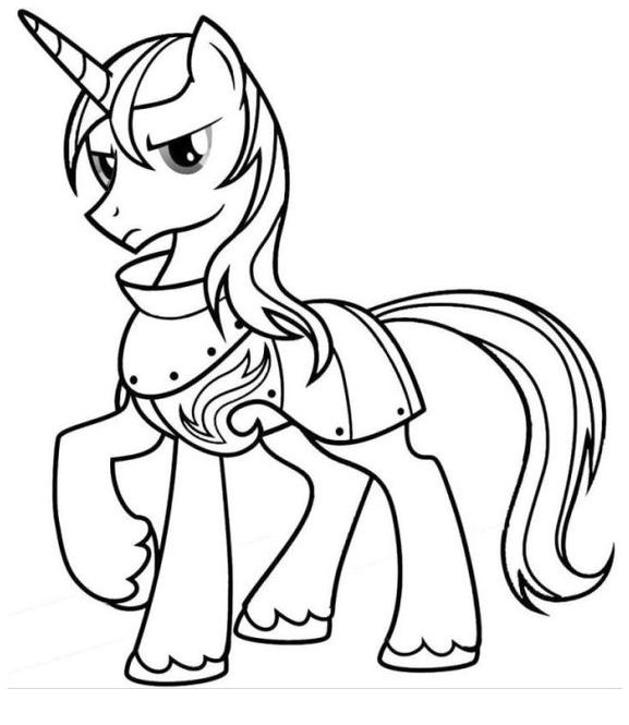 My Little Pony Shining Armor Coloring Coloring Page