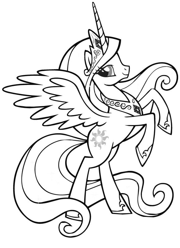 My Little Pony Princess Cadance Coloring 2 Coloring Page