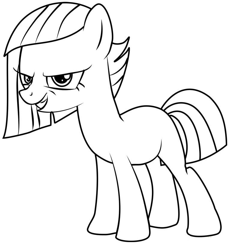 Mlp Coloring Limestone Pie And Marble Pie Coloring Page My