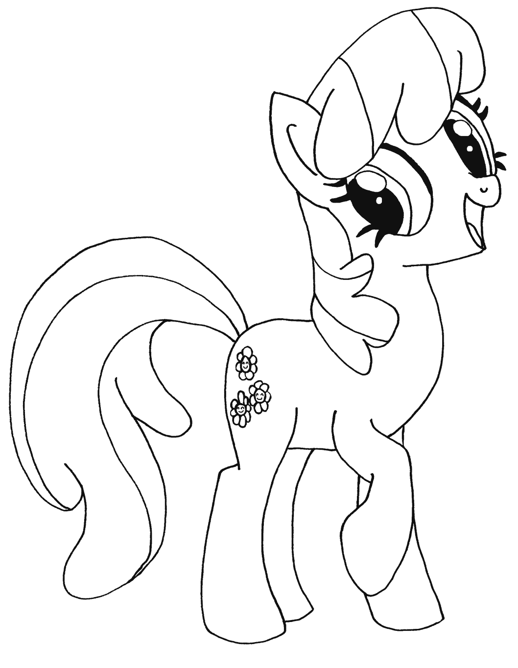 Mlp Coloring Cloudy Quartz  Coloring Page