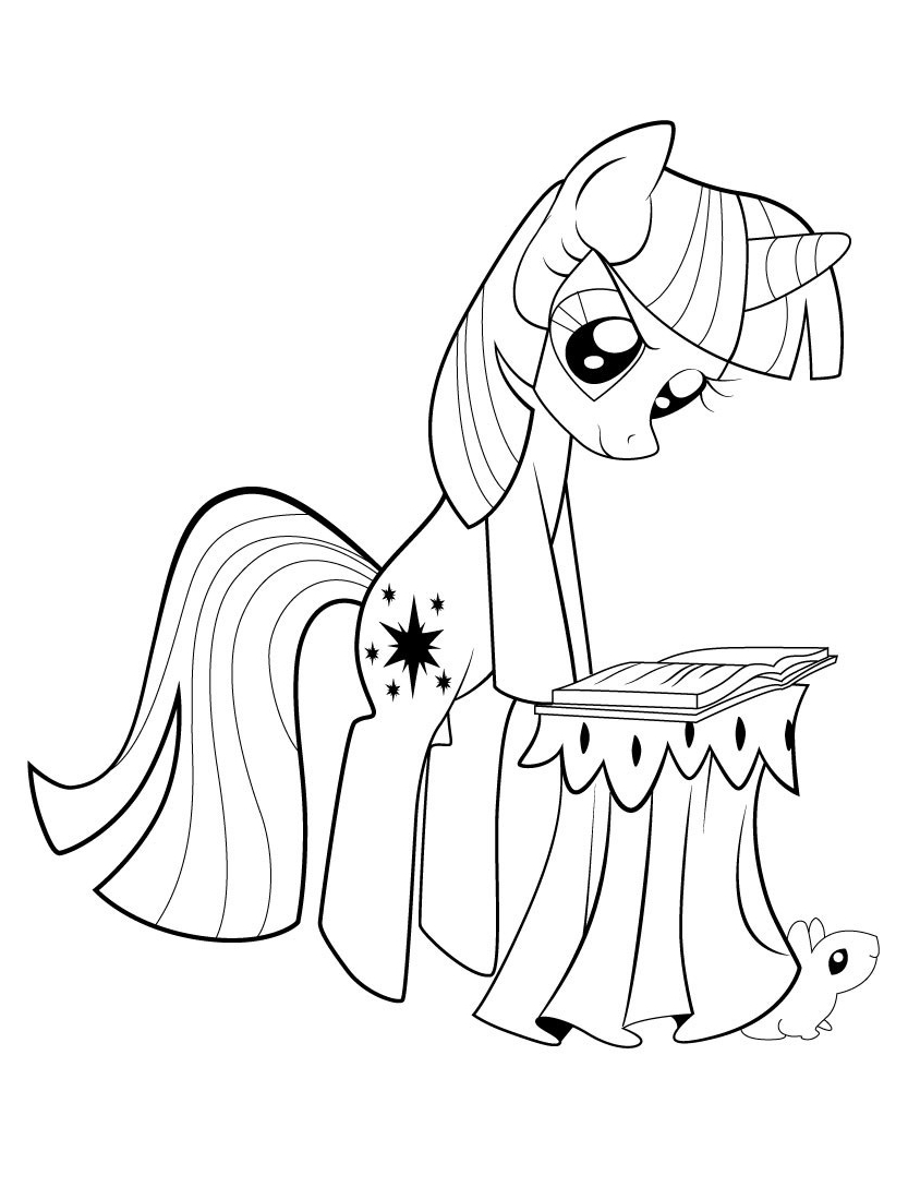My Little Pony Coloring Mr and Mrs Shy Coloring Page
