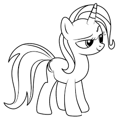 Mlp Coloring Trixie Coloring Page