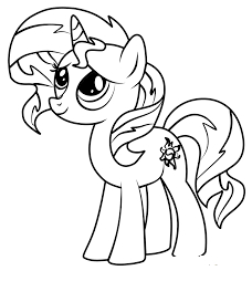 Sunset Mlp Coloring Coloring Page