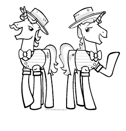 MLP Coloring Flim and Flam Coloring Page