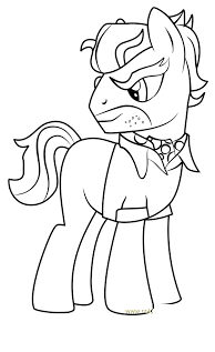 MLP Coloring Dr Caballeron Coloring Page