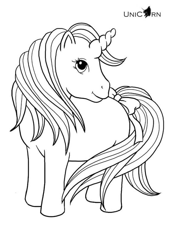 Nice Unicorn Coloring Page