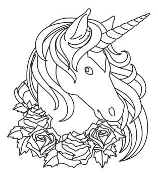 Unicorn Head Coloring