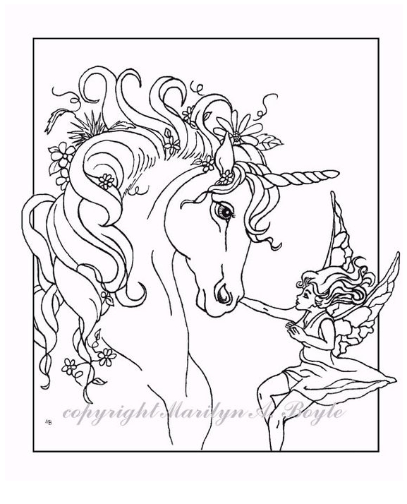 Unicorn Coloring And Boss Coloring Page