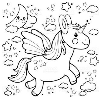 Baby Unicorn Coloring 3 Coloring Page