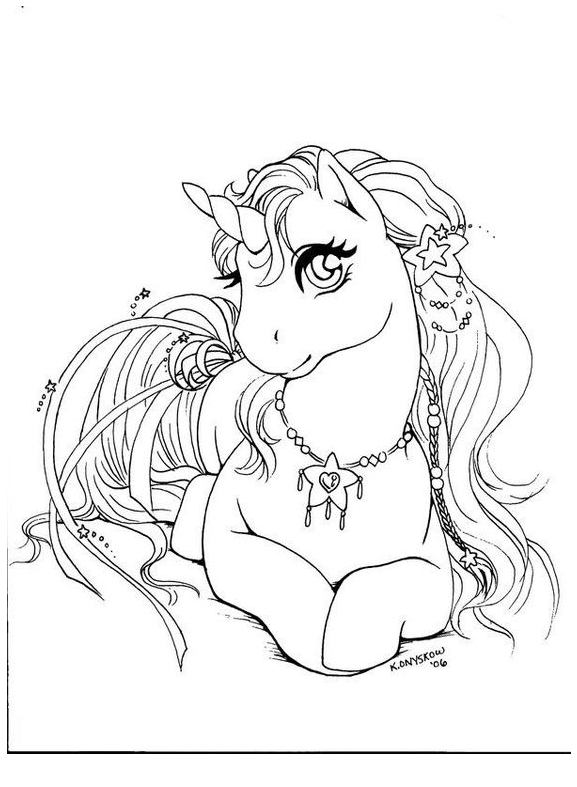 Unicorn Coloring Relax 1 Coloring Page