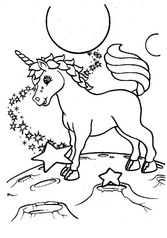 Unicorn Coloring Happy Coloring Page