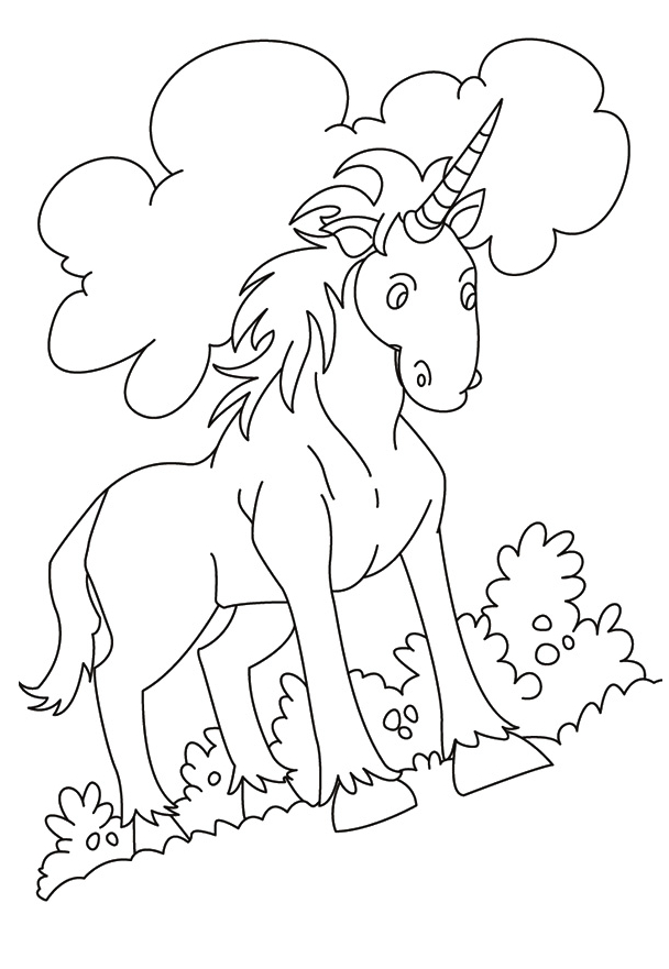 Indian Unicorn Coloring Page Coloring Page
