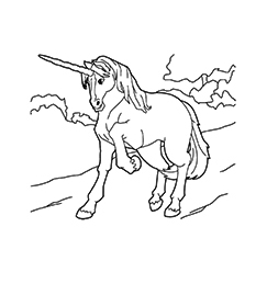 Chinese Unicorn Coloring Coloring Page