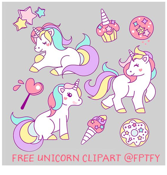 Free Hand Drawn Unicorn Coloring Page