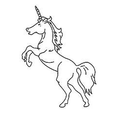 American Unicorn Coloring Page