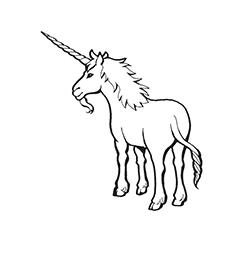 Archai Unicorn Coloring Page