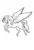 Pegasus Coloring Prancing Coloring Page