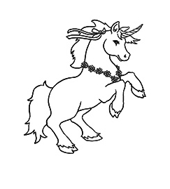 Unicorn Coloring Named Lancelot Coloring Page