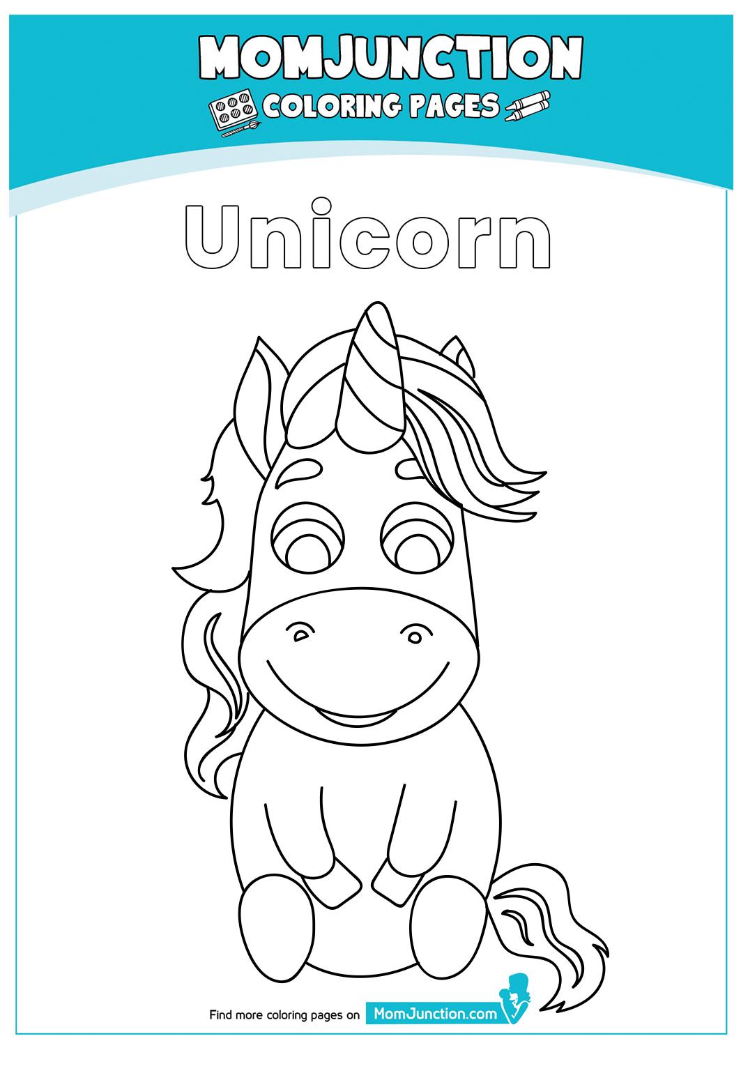 Unicorn Coloring Pages Cartoon Coloring Page