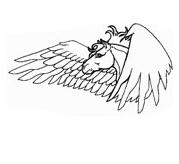 Pegasus Head Coloring Coloring Page