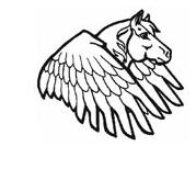 Pegasus Head Coloring 2 Coloring Page