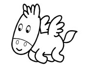 Cartoon Pegasus Coloring Pages