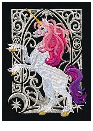 Unicorn Coloring Page With Colors Coloring Page
