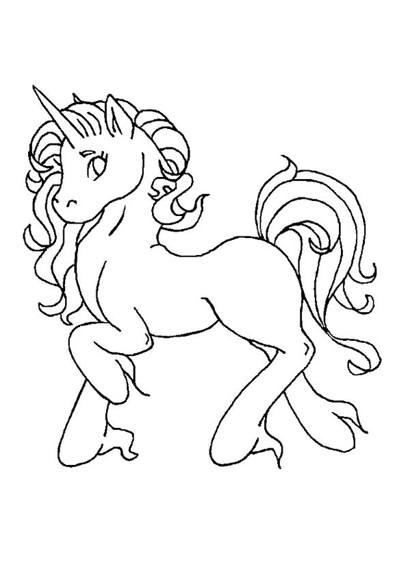 Unicorn Coloring Page Prepare Run Coloring Page