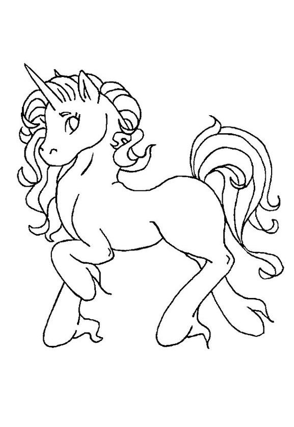 Unicorn Coloring Page Prepare Run Coloring Page