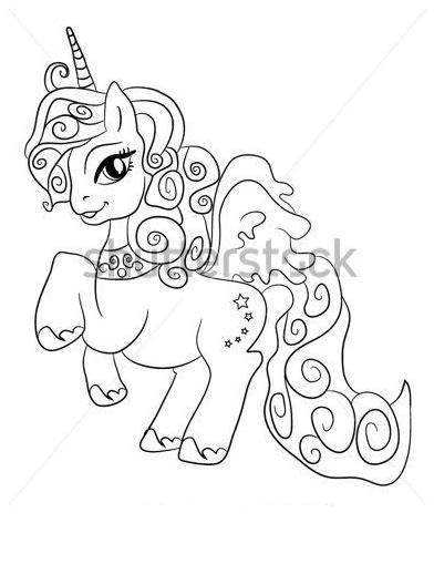 Princes Unicorn Coloring Page