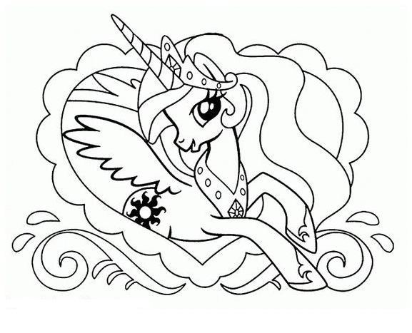 Princess Unicorn Coloring Stay On Coloring Page