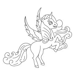 Unicorn Coloring Jump Coloring Page