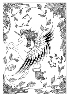 Leen Margot Unicorn Coloring Coloring Page
