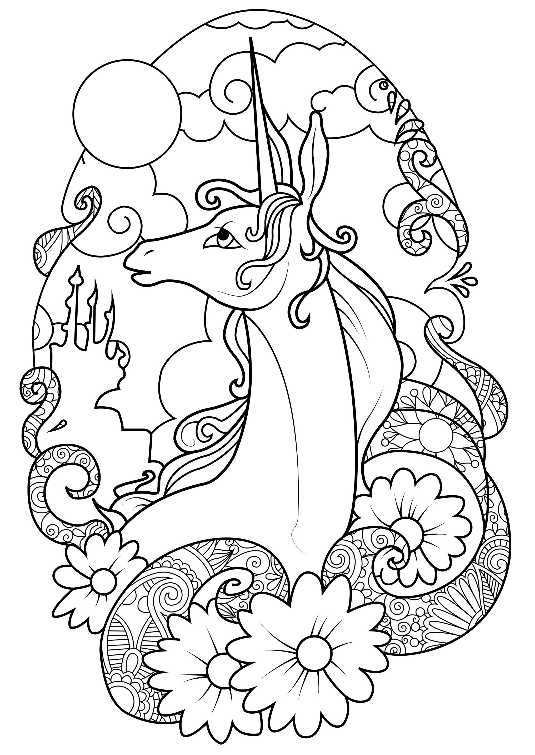 Unicorns Coloring Page Fairy Unicorn Coloring Page