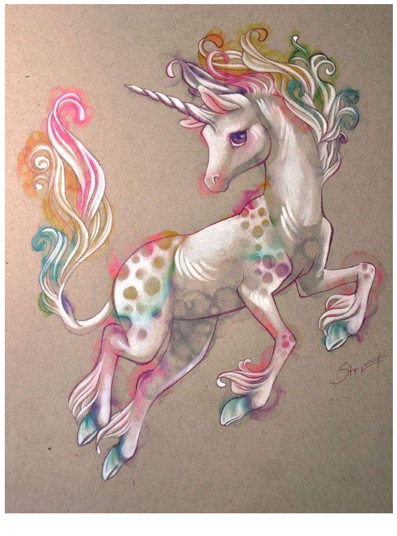Unicorn Coloring Tattoo Coloring Page