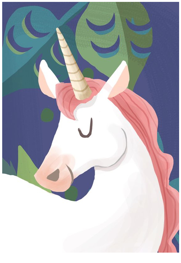 Nice Picture Unicorn Coloring Page