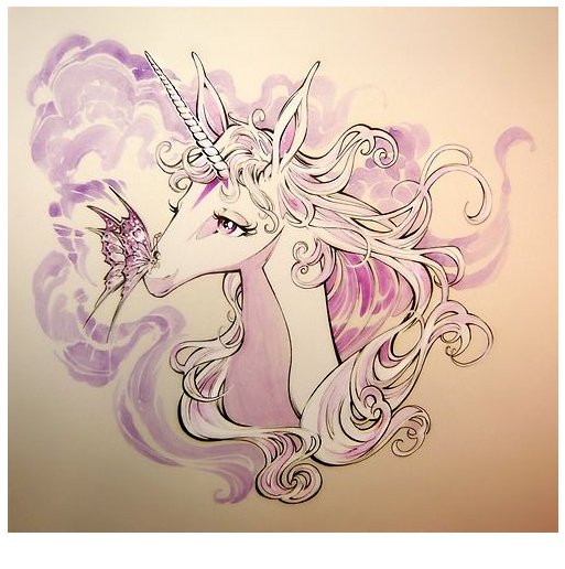 Princess Unicorn Picture Coloring Page