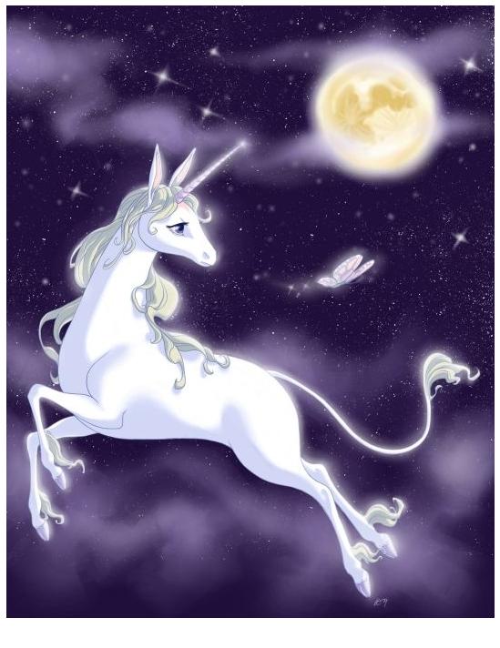 Unicorn With Purple Background